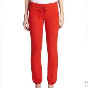 * Wildfox Red Drawstring Pants Size Large